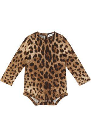Dolce & Gabbana Bébé Bodys bébé - Bébé — Body en coton à motif léopard