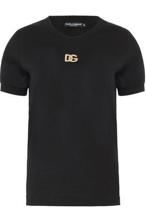 Dolce & Gabbana Femme Manches courtes - T-shirt à logo