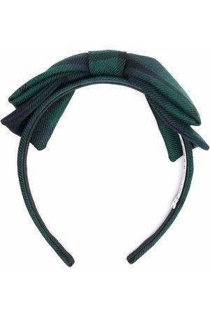 Alessandra Rich Femme Bandeaux - Check-print bow headband