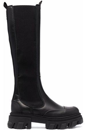 Ganni Femme Mocassins - Slip-on knee-high boots
