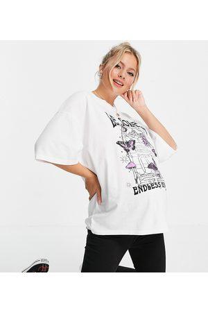Topshop Maternity T-shirt style skateur à manches courtes et inscription « Le Soleil »