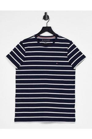 Tommy Hilfiger T-shirt ajusté à rayures - marine