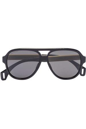 Gucci Homme Lunettes de soleil - GUCCI AVIATOR SUNGLASSES BLACK