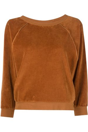 Suzie Kondi Femme Sweatshirts - Crew neck velour jumper