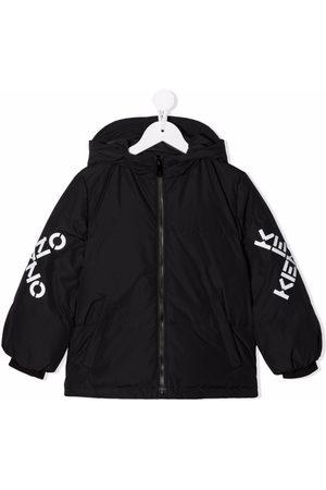 Kenzo Garçon Bomber - Logo-print sleeve jacket