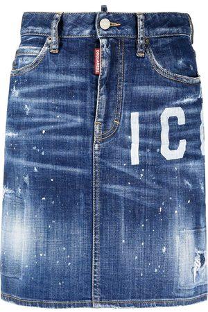 Dsquared2 Jupe Icon en jean