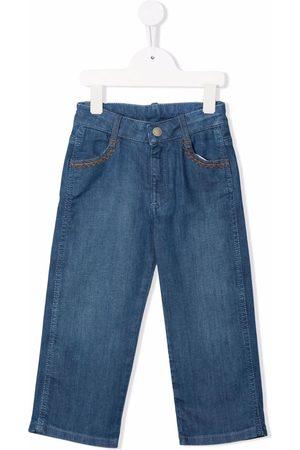 Chloé Fille Coupe droite - Straight-leg denim jeans