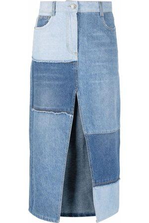 Pinko Femme Jupes en jean - Jupe en jean à design patchwork
