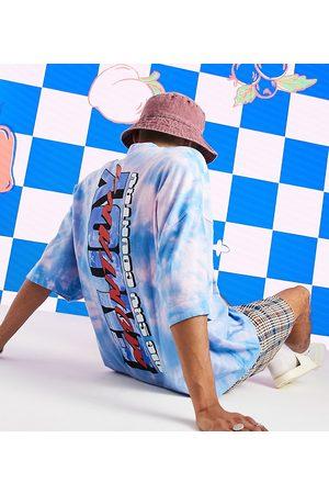 COLLUSION T-shirt oversize à logo imprimé Enjoy effet tie-dye