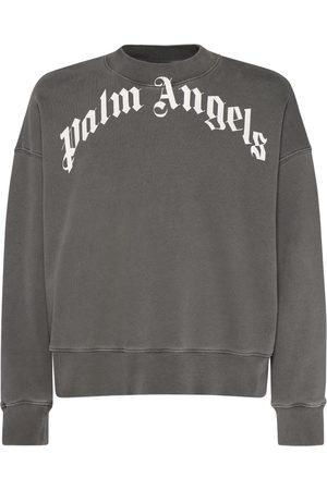 Palm Angels Sweat-shirt En Jersey De Coton À Logo