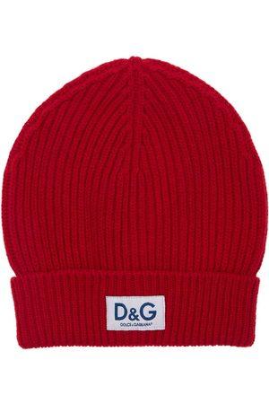 Dolce & Gabbana Bonnet En Maille De Laine Avec Patch D&g