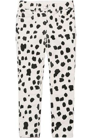 STELLA MCCARTNEY KIDS Fille Leggings & Treggings - Pantalon En Coton Côtelé Imprimé Dalmatien