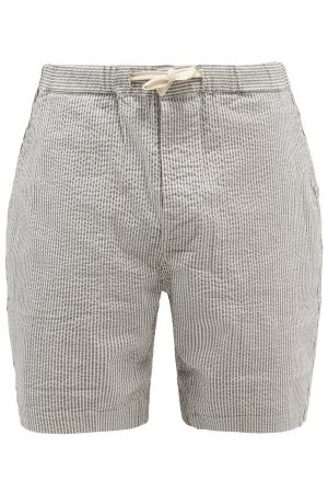 Albam Homme Shorts - Short rayé en crépon de coton mélangé