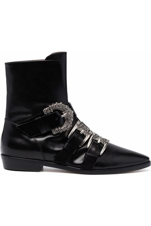 Etro Decorative side-buckle ankle boots