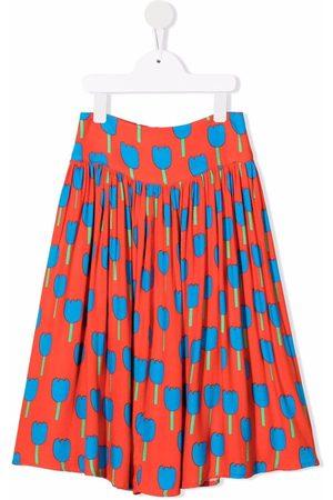 Stella McCartney Femme Jupes imprimées - Floral-print pleated skirt