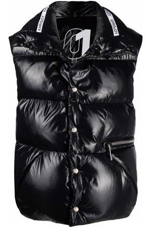 Khrisjoy Homme Doudounes - Gilet oversize matelassé à logo imprimé