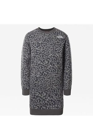 The North Face Robe Drew Peak Pour Fille Vanadis Grey Leopard Small Print Taille L