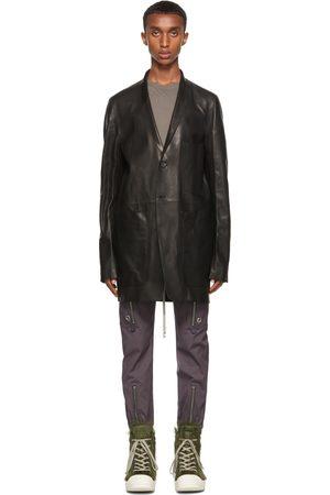 Rick Owens Homme Vestes en cuir - Blouson Lido noir en cuir