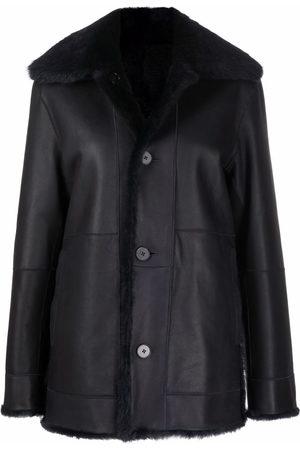 Jil Sander Femme Vestes en cuir - Veste en cuir à doublure lainée