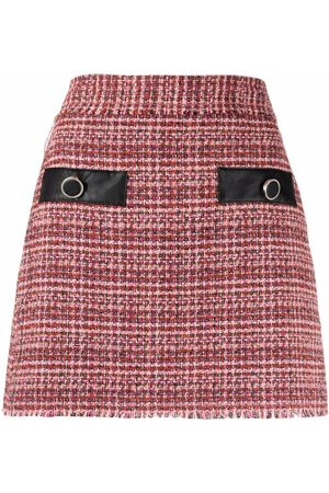 Pinko Jupe en tweed à taille haute