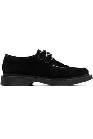 Saint Laurent Chaussures Teddy lacées en daim