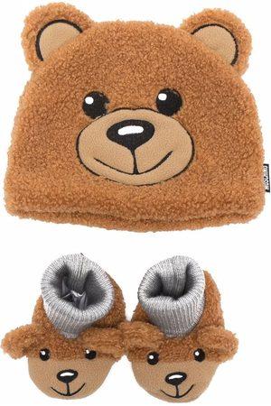 Moschino Ensemble bonnet-chaussons à motif ourson