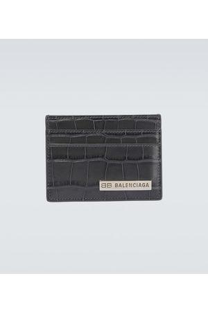 Balenciaga Porte-cartes Plate en cuir