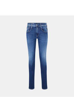 Replay Homme Slim - Jean slim Anbass Hyperflex effet délavé coton denim stretch mélangé