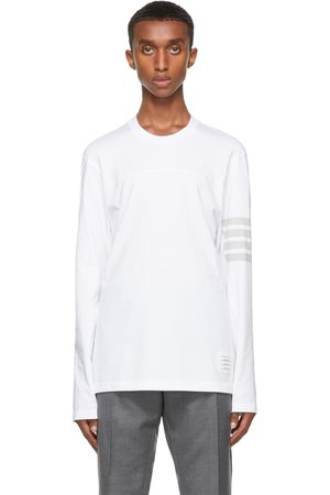 Thom Browne Homme Manches longues - T-shirt à manches longues Engineered 4-Bar blanc