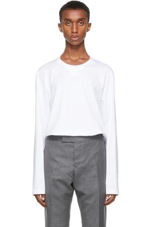 Thom Browne Homme Manches longues - T-shirt à manches longues RWB Tipping blanc à gousset rayé