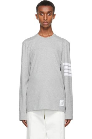 Thom Browne Homme Manches longues - T-shirt à manches longues Engineered 4-Bar gris