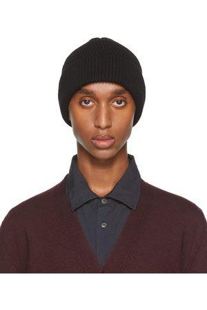 Maison Margiela Homme Bonnets - Bonnet noir en laine