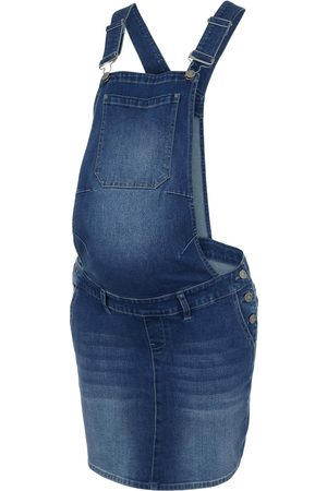 Mama Licious Femme Jupes en jean - Jupe-salopette 'MLTEXAS DUNGAREE