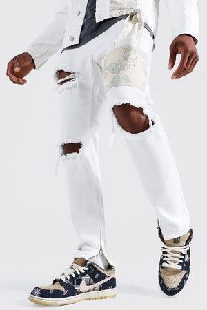 Boohoo Skinny Rigid Bandana Rip Jean Homme