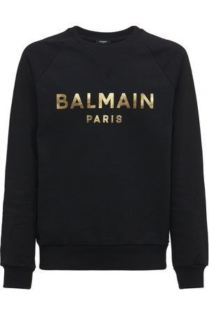 Balmain Sweat-shirt En Jersey De Coton Avec Logo