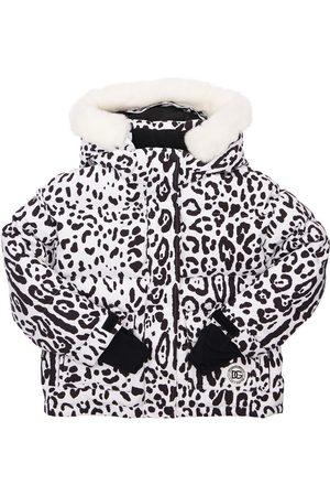 Dolce & Gabbana Doudoune De Ski En Nylon Avec Col En Fourrure