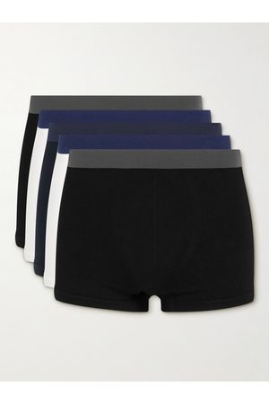 Hamilton and Hare Homme Boxers - Five-Pack Seamless Cotton Boxer Briefs