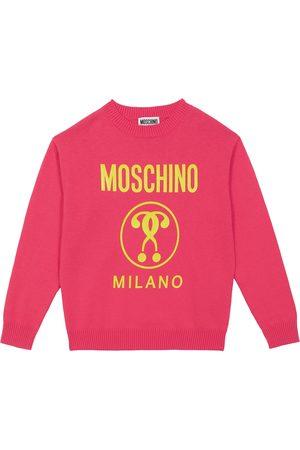 Moschino Bébé - Pull en coton et laine à logo