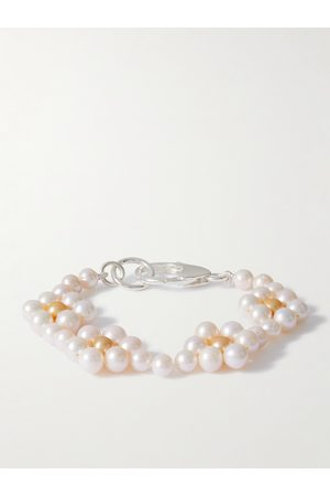 Hatton Labs Homme Bracelets - Daisy Sterling Silver and Pearl Bracelet