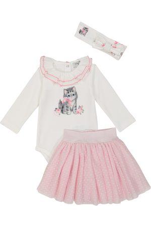 MONNALISA Bébé Bodys bébé - Ensemble grenouillère, jupe et bandeau en coton pour bébé