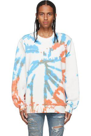 AMIRI Pull molletonné orange et bleu à motif tie-dye