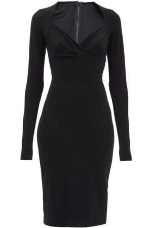 Dolce & Gabbana Femme Robes midi - Robe midi en jersey à décolleté en caur
