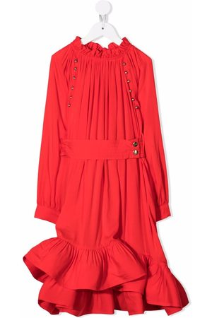 Lanvin Fille Robes - Ruffle-trim belted dress