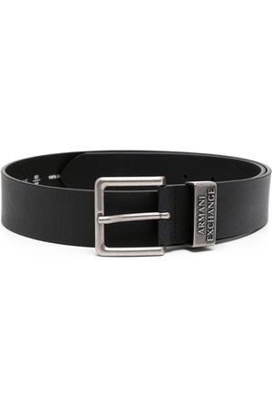 Armani Homme Ceintures - Logo-embossed leather belt