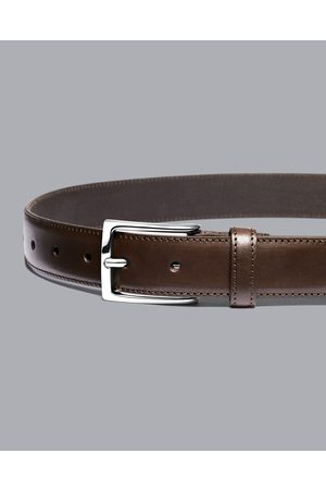 Charles Tyrwhitt Leather Formal Belt - Chocolate Size 32 by