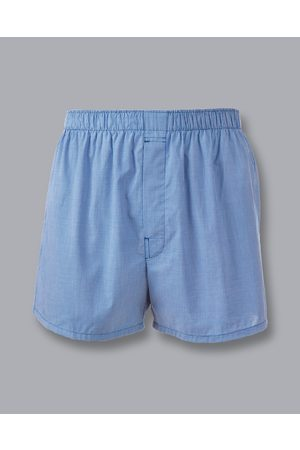 Charles Tyrwhitt Micro Grid Woven Boxers - Royal Size Large by