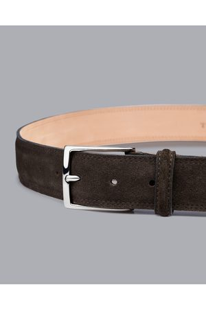 Charles Tyrwhitt Made In England Suede Belt - Chocolate Size 32 by