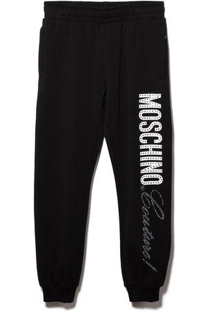 Moschino Pantalon de jogging Couture! à ornements strassés