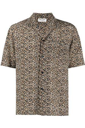 Saint Laurent Chemise à imprimé léopard