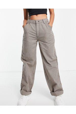 ASOS Femme Chinos - Pantalon chino ample à carreaux